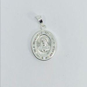 Sterling Silver 925 Pendant Jesus Pendant